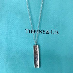 Tiffany & Co. 1837 Sterling Silver Bar Necklace